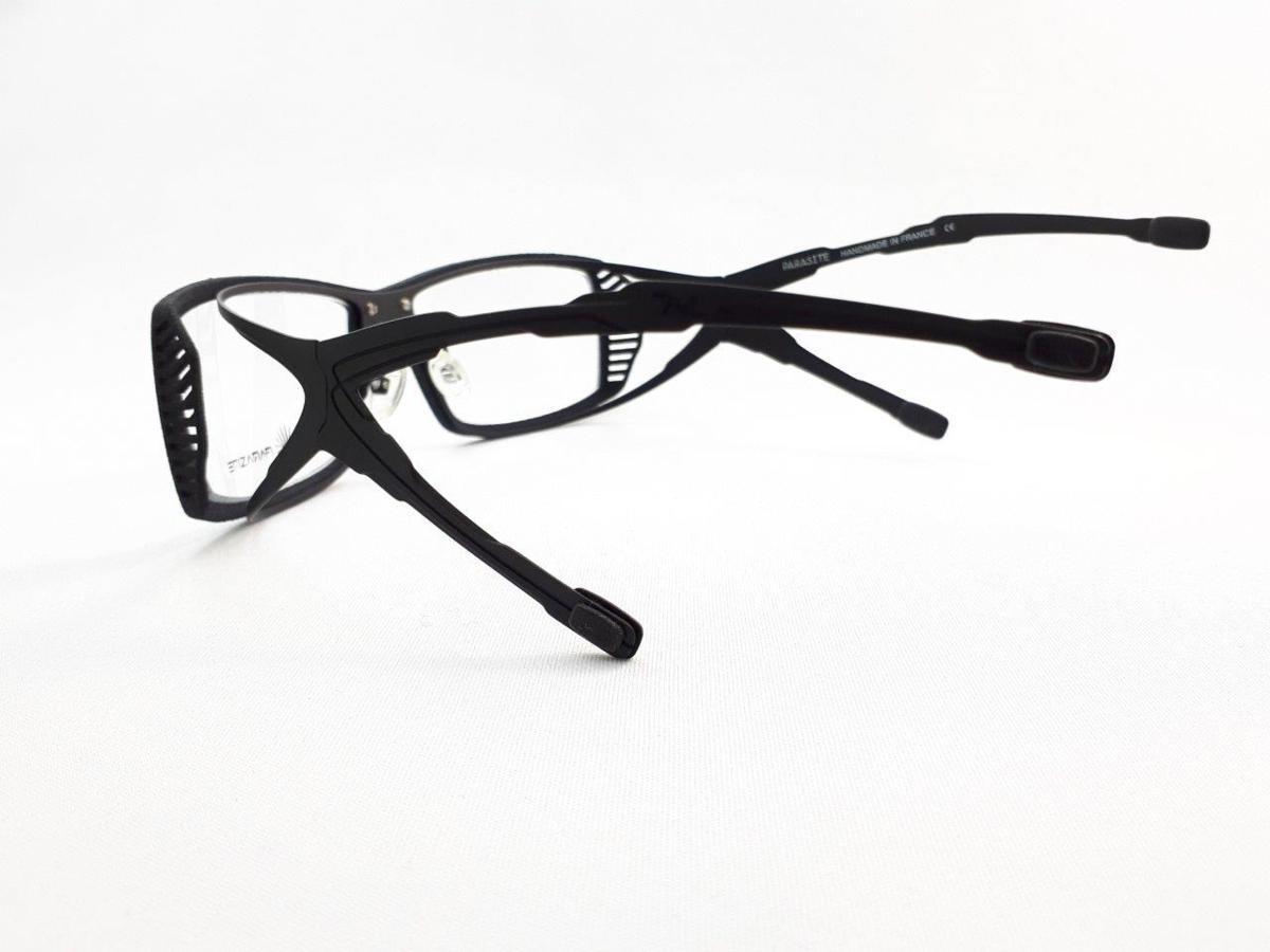 新品 PARASITE パラサイト SIDERO 4 C17M 55口16 ブラック made in France 度付きレンズ無料 メガネ 眼鏡フレーム_画像5