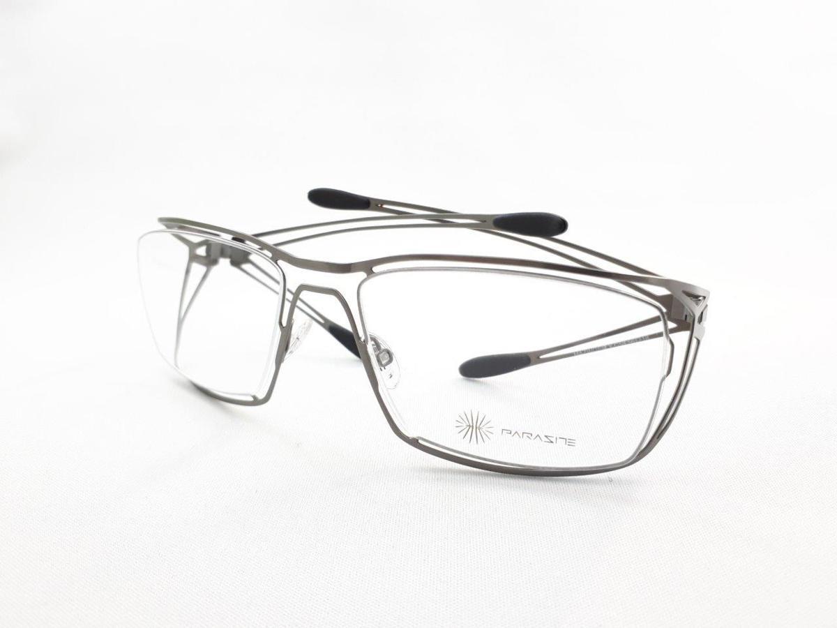 新品 PARASITE パラサイト MAZINGER Y C58 56口18 シルバー made in France 度付きレンズ無料 メガネ 眼鏡フレーム_画像1