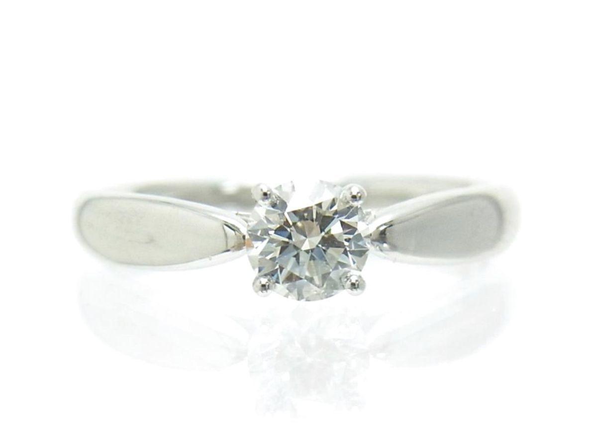 送料込みの即決価格!ティファニー 天然ダイヤモンド0.28ct 上質クラス プラチナ製リング 婚約ダイヤ ブライダル アウトレット 訳あり_画像2