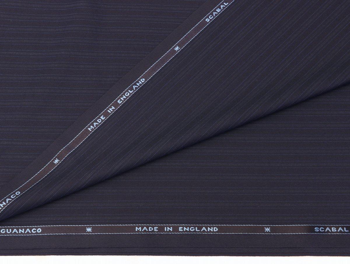 ■スキャバル社「ロイヤルフラッシュ」濃紺に消え入りそうな上品ストライプ・服地価格132万円・心地良さを追求した逸品_画像4