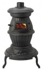 ホンマ製作所鋳物薪ストーブ(ダルマストーブ)/温度計付き新品_画像1