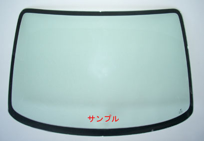 サーブ 純正新品 フロントガラス サーブ 9-3 2003-2009Y グリーン レインセンサー付車用_画像1