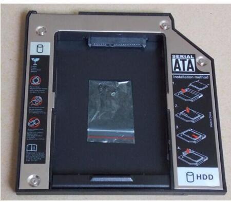 国内発送 Lenovo ThinkPad W530 R400 R500 W510 W520 W700 等ノートパソコン用 セカンドHDDアダプター◆SSDマウンタ SATA接続 12.7mm
