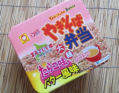やきそば弁当 たらこ味バター風味 太麺 12食入 切手可 北海道限定_画像1