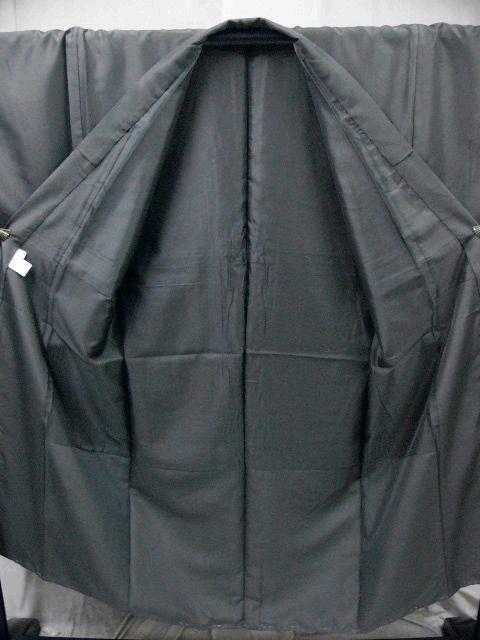 仕立て上り・新品 プレタ・メンズ色無地着物・羽織セット LLサイズ アイビーグレイ・カラー_画像3