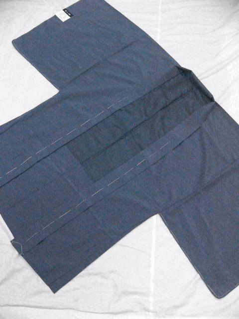 落ち着いた色合い 洗えるポリエステル・紬風のアンサンブル Lサイズ 新品_画像6