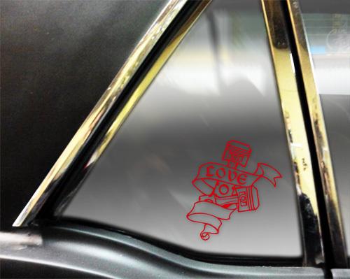■ 色が選べる ピストンステッカー ホットロッド hotrod ハーレーチョッパー.ロカビリー アメ車 ピストン デカール_画像3