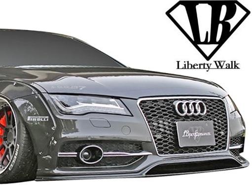 【M's】AUDI アウディ A7/S7 (2011y-2018y) Liberty Walk LB-WORKS フロントバンパー//FRP製 エアロ バンパー リバティーウォーク_画像1