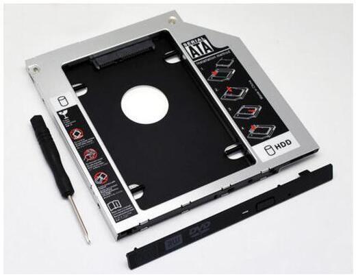 国内発送 新品 DELL Precision M4600 M4700 M4800 等ノートパソコン用 セカンドHDDアダプター◆SSDマウンタ SATA接続 9.5mm_画像1
