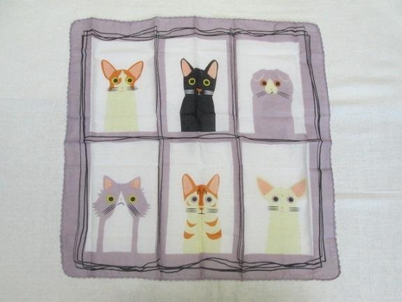 〓 新品 〓 即決 〓 バンダナ ・ ハンカチ 〓 ネコ 猫 ねこ キャット 〓 エスニック 〓