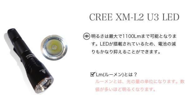 送料無料 フラッシュライト B20 高性能防水懐中電灯_画像5
