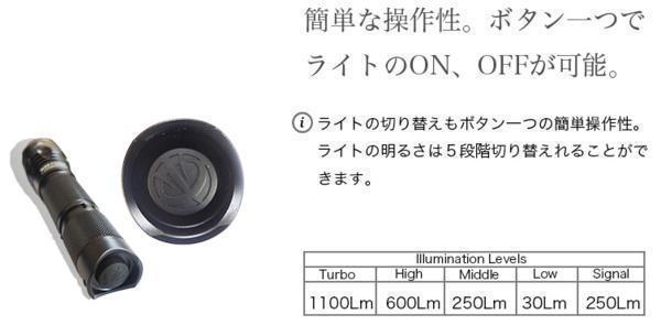 送料無料 フラッシュライト B20 高性能防水懐中電灯_画像6