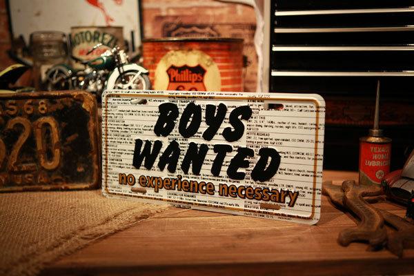 ボーイズ ウォンテッド 看板 ◆ 男子募集 アメリカン プレート 雑貨 CM44_画像3