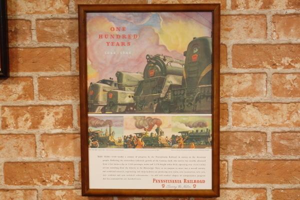 ペンシルバニア鉄道 100周年 B4フレームセット ◆ 列車 B4-082_画像1
