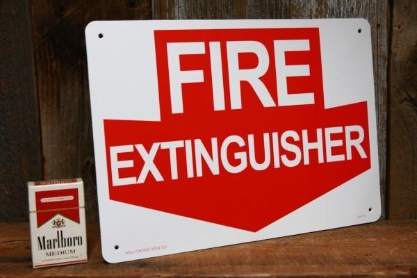 消火器はここ! プラスティック製 看板◆ 消防 防火用品 JSCA13_画像2