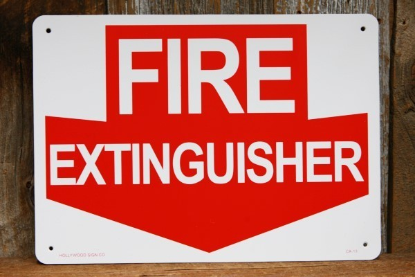 消火器はここ! プラスティック製 看板◆ 消防 防火用品 JSCA13_画像1