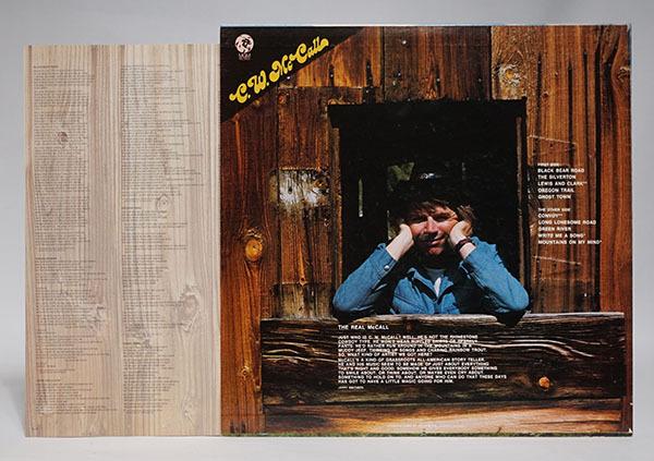 国内プロモ盤LP C.W.McCALL Black Bear Road C.W.マッコール レア品 寄付品_画像2