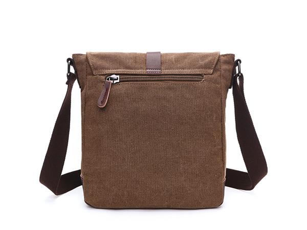 MY BAG ショルダーバッグ 小さめ 高級キャンバス帆布 メンズ 斜め掛け 通学 通勤 書類かばん メッセンジャーバッグ 自転車鞄 8167 コーヒー_素材や縫製技術を徹底的に追求