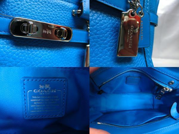 COACH コーチ スワッガー27 ブルー レディース 保存袋付き_画像5