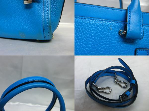 COACH コーチ スワッガー27 ブルー レディース 保存袋付き_画像6
