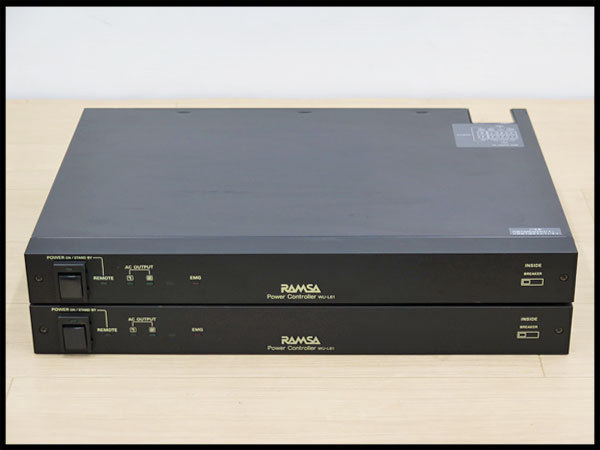 ● 2 इकाइयों सेट! RAMSA / Ramsa पावर कंट्रोल यूनिट WU-L61 [करंट आइटम] पावर कंट्रोलर / पावर कंट्रोलर / एकॉस्टिक इक्विपमेंट / पैनासोनिक / पैनासोनिक, संगीत वाद्ययंत्र, उपकरण और रिकॉर्डिंग, पीए उपकरण और अन्य