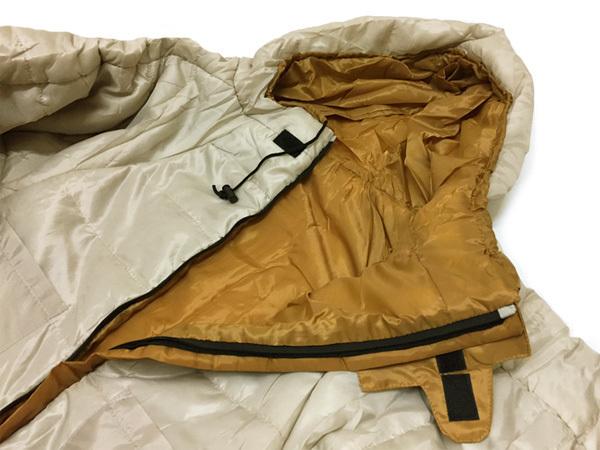 送料無料 人型寝袋 L-LL 動けるシュラフ スリーピングバッグ アイボリー 収納袋入り/21и_画像2