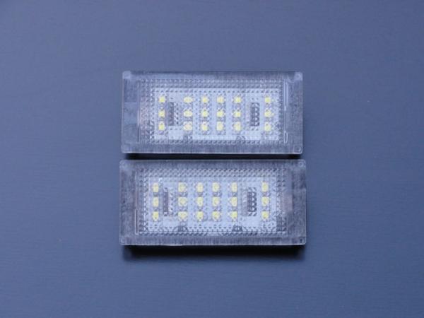 激白光! BMW LED ライセンスランプ  ナンバー灯 E46 318i 320i 325i 後期 2D_画像1