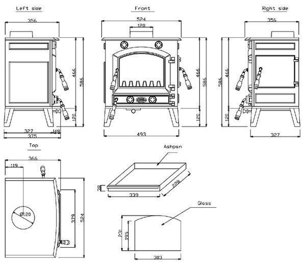 ホンマ製作所/鋳物薪ストーブHTC-50TX/温度計付き新品_画像2