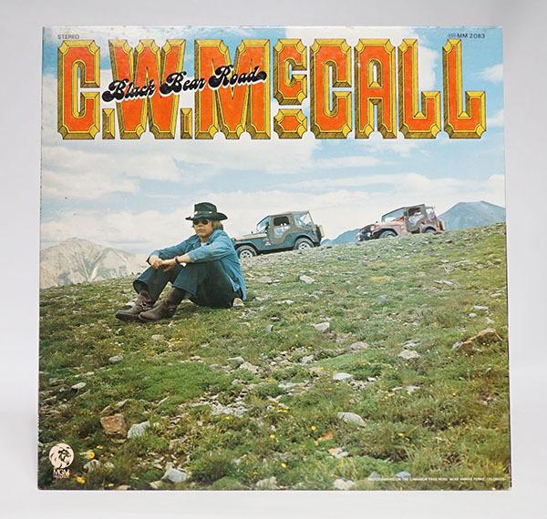 国内プロモ盤LP C.W.McCALL Black Bear Road C.W.マッコール レア品 寄付品_画像1