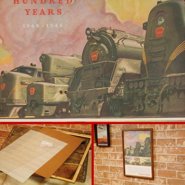 ペンシルバニア鉄道 100周年 B4フレームセット ◆ 列車 B4-082_画像2