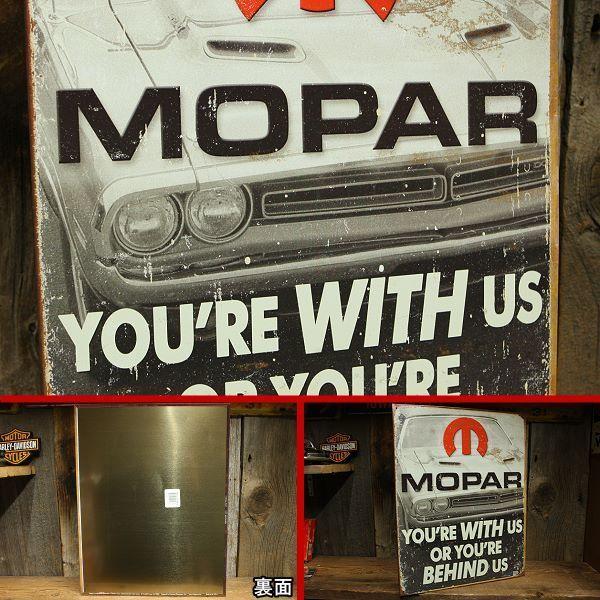 MOPAR オールド加工 看板 ◆ モパー モウパー アメ車 SUDSP1647_画像2