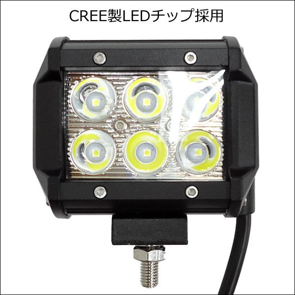 LEDワークライト【2個セット】作業灯 (Y) 18W 12-24v 防水 角型 デッキライト/21Ξ_画像3