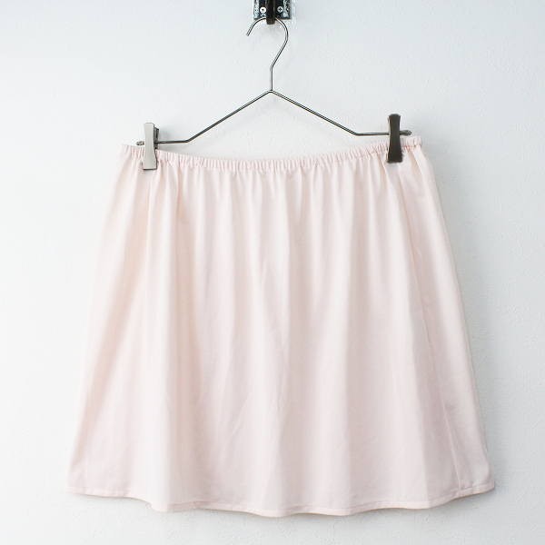 大きいサイズ Rose Tiara ローズティアラ リボン プリント フレア ワンピース 46/-ベージュ チュニック ペチスカート付【2400011463678】_画像5