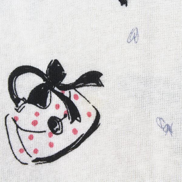大きいサイズ Rose Tiara ローズティアラ リボン プリント フレア ワンピース 46/-ベージュ チュニック ペチスカート付【2400011463678】_画像6