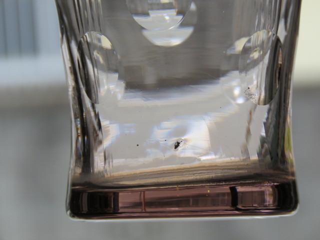 戦前 デッドストック 三越 色ガラス 切子 コップ 3個/アンティーク*ビンテージ*ガラス瓶*時代*和*レトロ*大正ロマン*カフェ*古民家*水玉_画像8