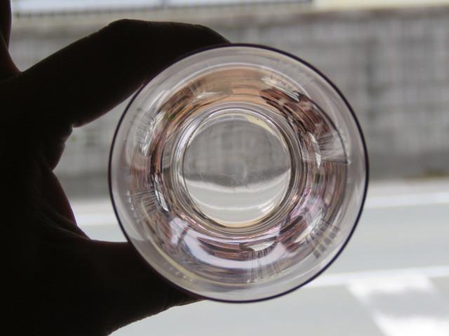 戦前 デッドストック 三越 色ガラス 切子 コップ 3個/アンティーク*ビンテージ*ガラス瓶*時代*和*レトロ*大正ロマン*カフェ*古民家*水玉_画像7