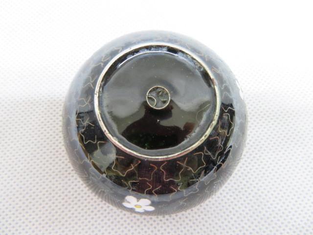アンティーク 蓋付 陶磁器 小物入れ 花柄 容器 6cm×4cm_画像9