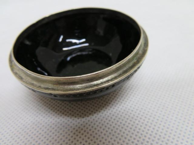 アンティーク 蓋付 陶磁器 小物入れ 花柄 容器 6cm×4cm_画像7