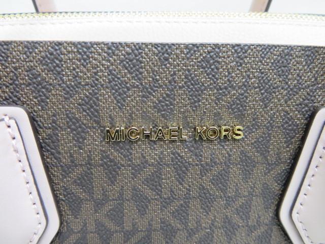 未使用 MICHAEL KORS マイケルコース 2way バッグ ピンクベージュ×ブラウン ショルダーストラップ付_画像2