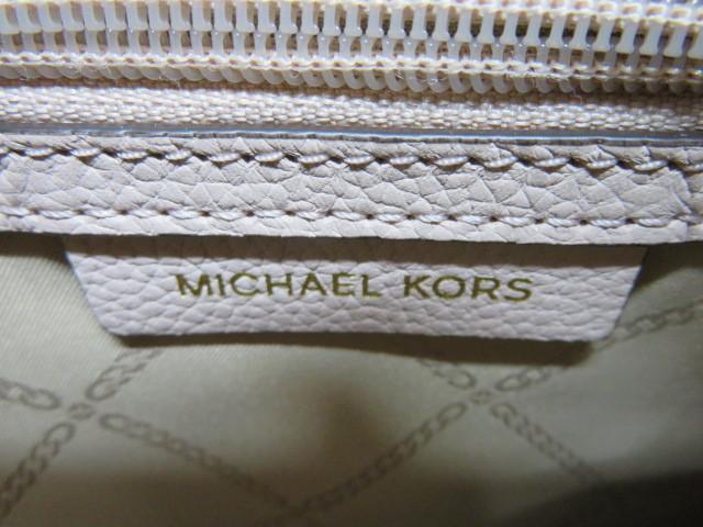 未使用 MICHAEL KORS マイケルコース 2way バッグ ピンクベージュ×ブラウン ショルダーストラップ付_画像7