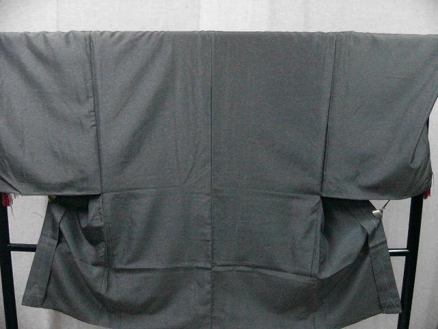 仕立て上り・新品 プレタ・メンズ色無地着物・羽織セット LLサイズ アイビーグレイ・カラー_画像6