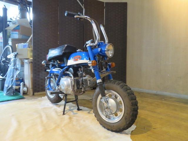 「HONDA MONKEY Z50A ホンダ モンキー リジット 50cc 6V 初期型 ブルー 2949km 原付 原チャリ バイク 希少 札幌発」の画像3
