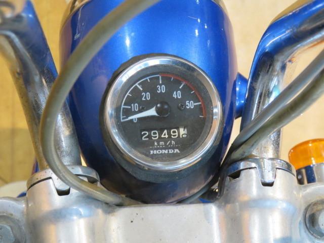 HONDA MONKEY Z50A ホンダ モンキー リジット 50cc 6V 初期型 ブルー 2949km 原付 原チャリ バイク 希少 札幌発_画像8