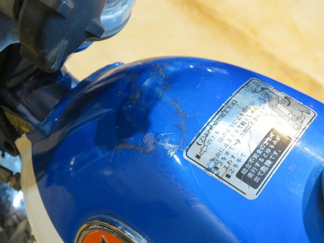 HONDA MONKEY Z50A ホンダ モンキー リジット 50cc 6V 初期型 ブルー 2949km 原付 原チャリ バイク 希少 札幌発_画像9