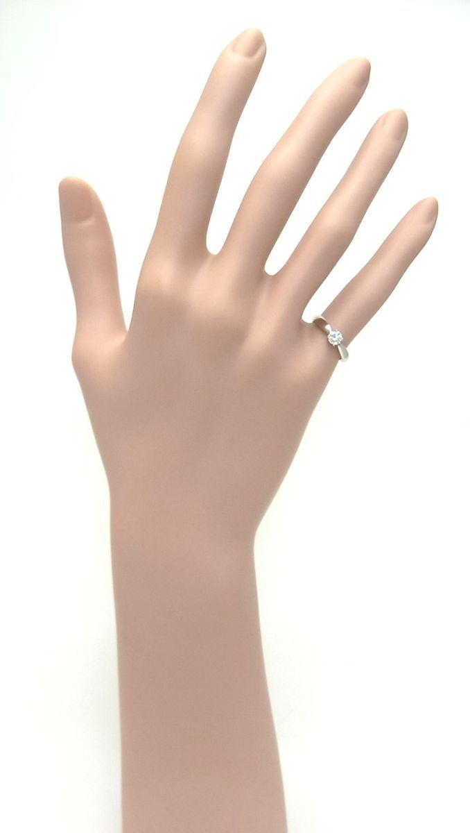 送料込みの即決価格!ティファニー 天然ダイヤモンド0.28ct 上質クラス プラチナ製リング 婚約ダイヤ ブライダル アウトレット 訳あり_画像8