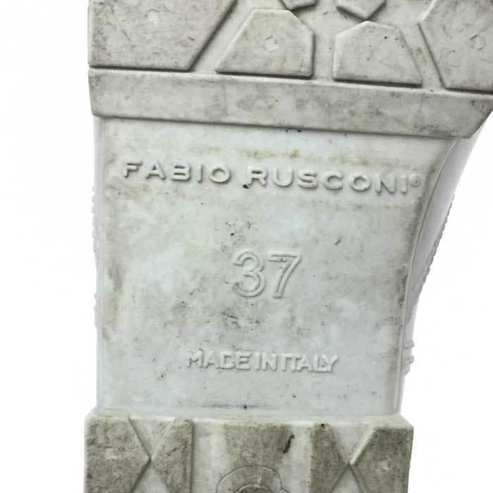 ファビオ ルスコーニ FABIO RUSCONI レインブーツ ライトグレー_画像6