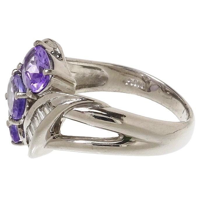 12号 タンザナイト 計1.55ct ダイヤモンド 計0.28ct リング・指輪 Pt900プラチナ_画像3
