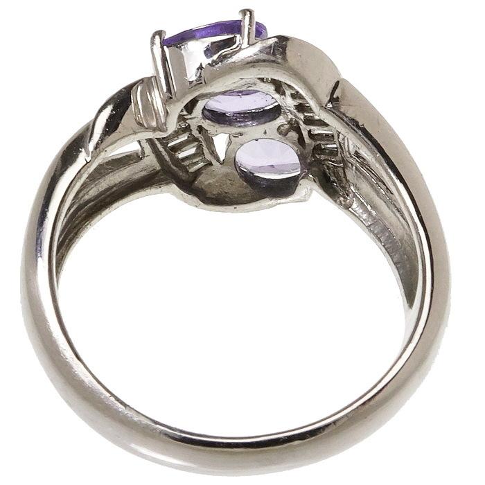 12号 タンザナイト 計1.55ct ダイヤモンド 計0.28ct リング・指輪 Pt900プラチナ_画像4
