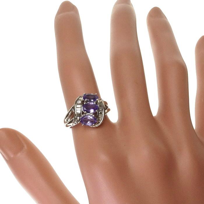 12号 タンザナイト 計1.55ct ダイヤモンド 計0.28ct リング・指輪 Pt900プラチナ_画像7