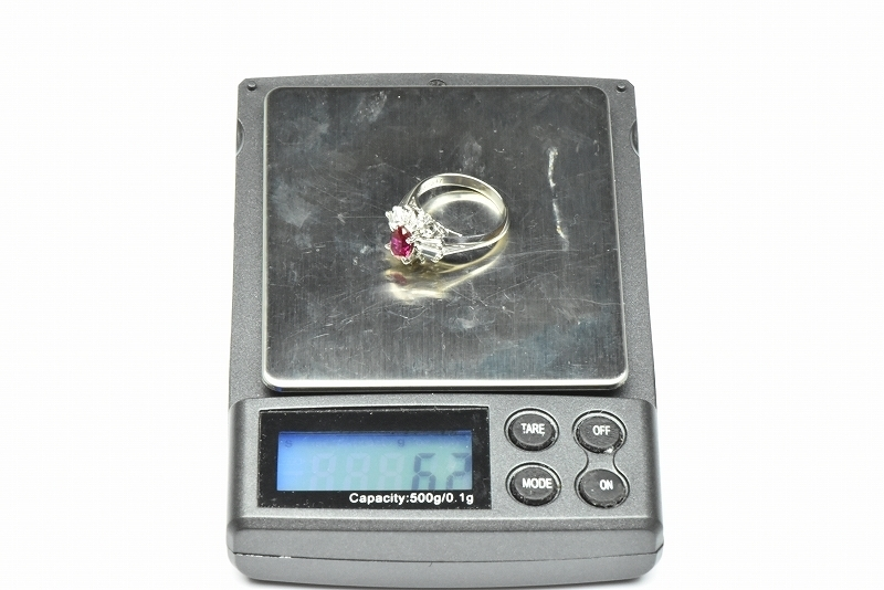 京セラ クレサンベール 綺麗な ルビー リング 10号 指輪_画像8